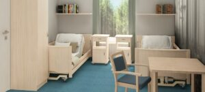 Pokój pensjonariusza w Centrum Opieki i Rehabilitacji KlaraMed